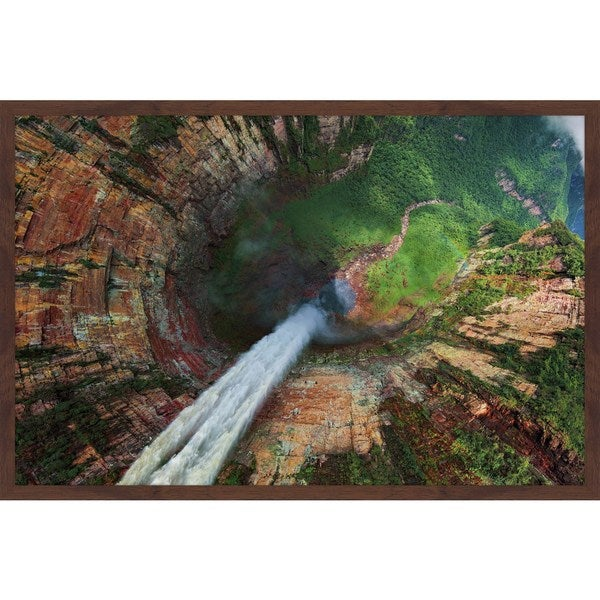 Marmont Hill - 'Angel Dragon Fall' Framed Painting Print - Multi