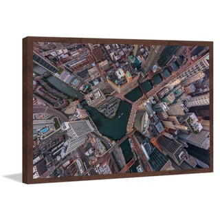 Marmont Hill - 'Chicago Aerial' Framed Painting Print
