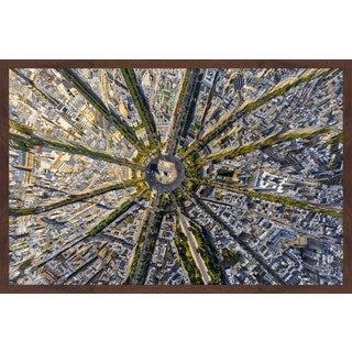 Marmont Hill - 'Paris Aerial' Framed Painting Print