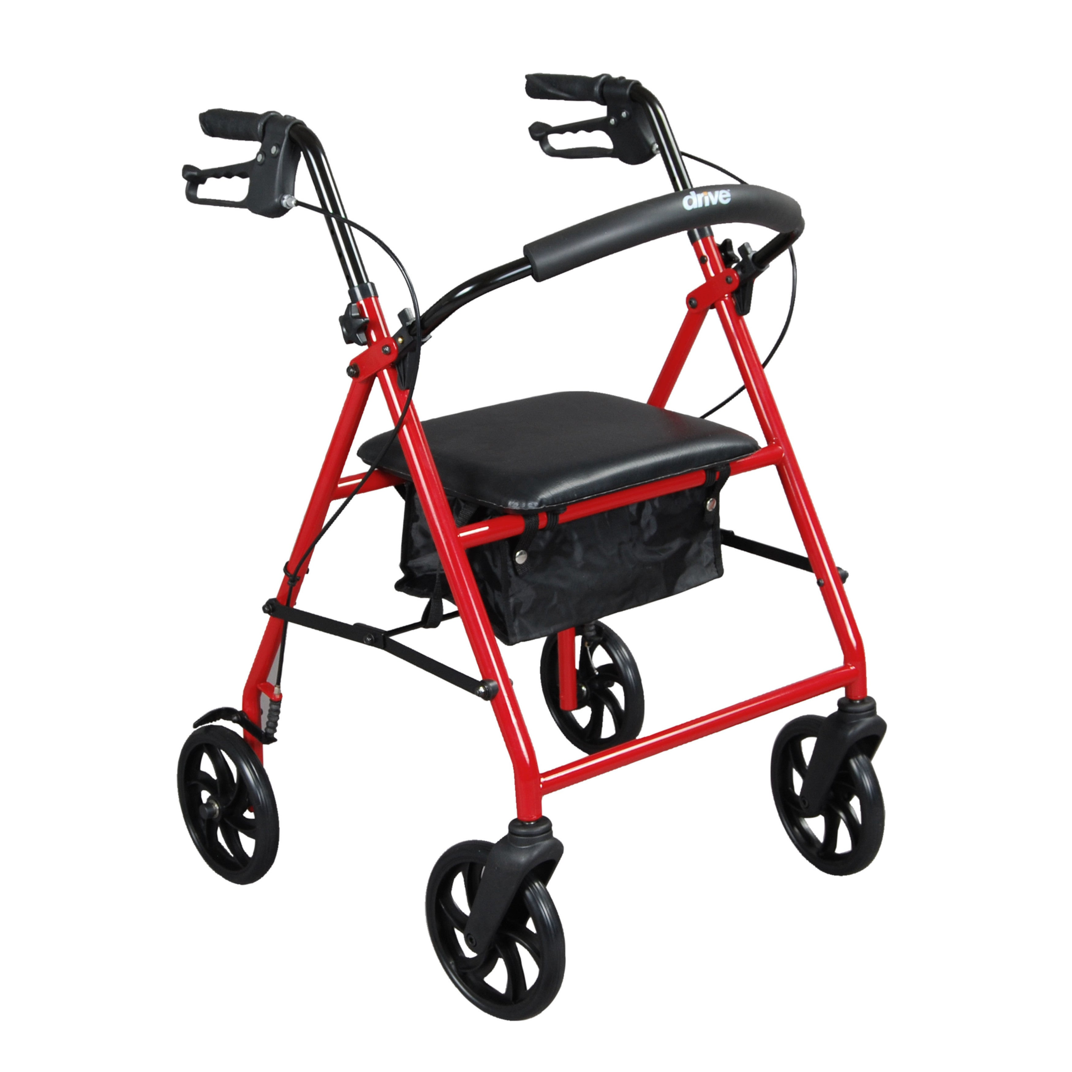 Drive Medical Steel (Silver) Walker Rollator with 8-inch ...