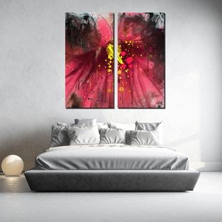 Ready2HangArt 2 Piece 'Painted Petals LV' Canvas Art Set