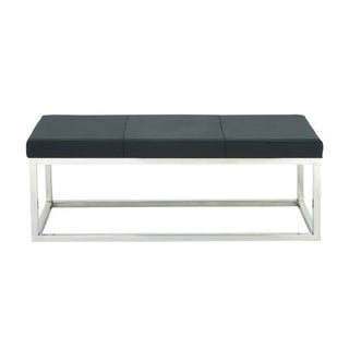 Benzara Chic Dark Grey Rectangular Bench