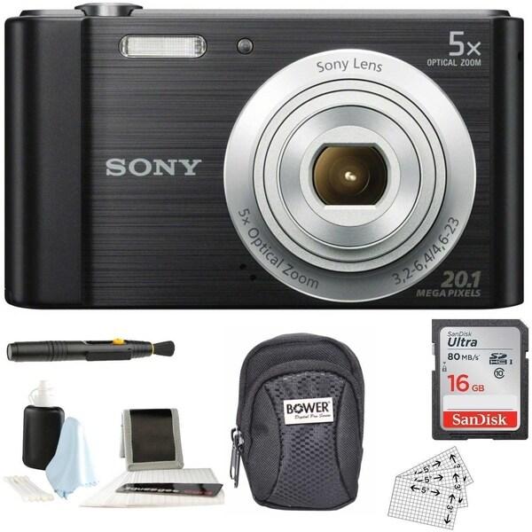Sony Cyber-shot W800 Compact Digital Camera (Black) with Accessory Bundle