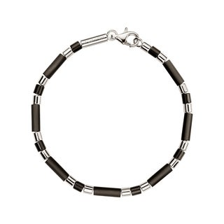 Calvin Klein Men's Brown Sterling Silver and Resin Fashion Necklace