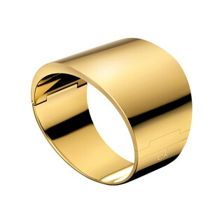 Calvin Klein Stylish Stainless Steel Yellow Gold PVD Coated Women's Fashion Bracelet