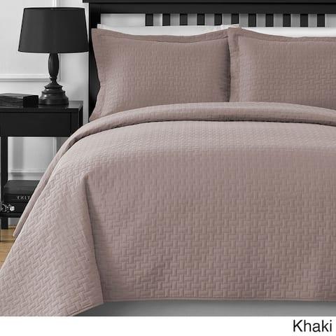 Comfy Bedding Frame Thermal Pressing 3-piece Oversize Coverlet Set