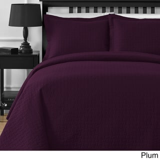 Comfy Bedding Modern Frame 3-Piece Oversized Coverlet Set