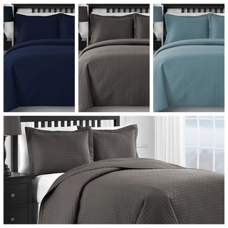 Comfy Bedding Modern Frame 3-Piece Oversized Coverlet Set