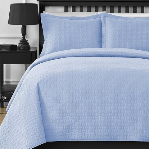 Comfy Bedding Frame Thermal Pressing 3-piece Oversize Coverlet Set