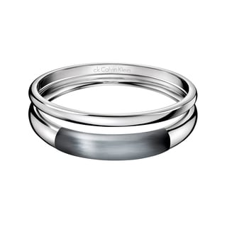 Calvin Klein Women's Ellipse Stainless Steel and Glass Fashion Bracelet