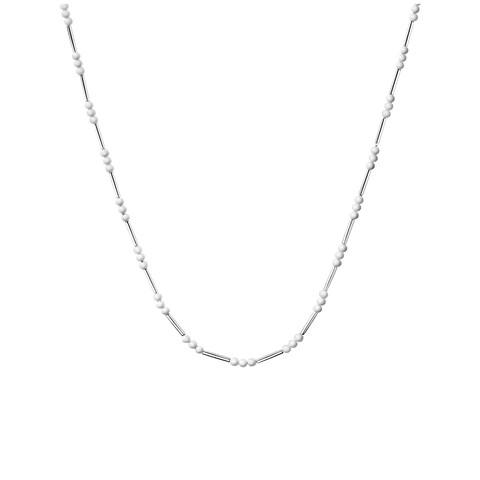 Calvin Klein Chaplet Women's Stainless Steel White Beaded Fashion Necklace