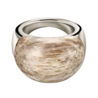 Calvin Klein Sterling SIlver Brown Hyperbole Women's Fashion Ring
