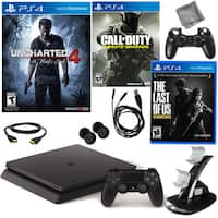 PlayStation 4 Slim 500GB Uncharted 4 Console with Call Of Duty, The Last of Us and Accessories