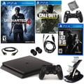 PlayStation 4 Slim 500GB Uncharted 4 Console with NBA 2K17 & Accessories