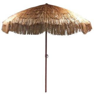 EasyGo Beige Plastic/Steel 8-foot Thatch Patio Umbrella