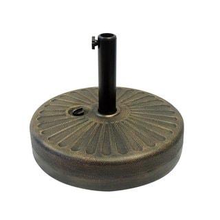 EasyGo Round Umbrella Base Weight  Gold  50 Pound Water Capacity Plastic