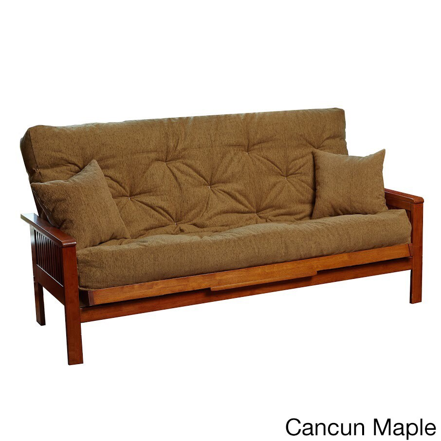 queen pocket coil memory foam futon mattress w pillows included ebay. Black Bedroom Furniture Sets. Home Design Ideas