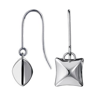 Calvin Klein Domed Stainless Steel Square Women's Fashion Earrings