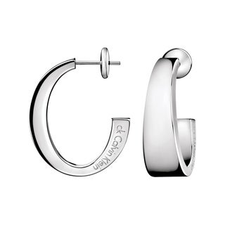 Calvin Klein Women's Chain Stainless Steel Fashion Hoop Earrings