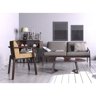 Classic Upholstered Mid Century Loveseat