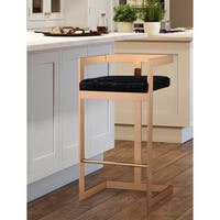 Marquee Black Velvet Counter Stool