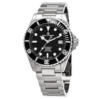 Revue Thommen Men's  'Divers' Black Dial Stainless Steel Swiss Automatic Watch