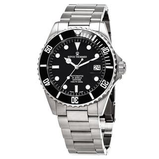 Revue Thommen Men's 17571.2137 'Divers' Black Dial Stainless Steel Swiss Automatic Watch