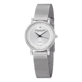 Stuhrling Original Women's Swiss Quartz Vogue Diamond Stainless Steel Strap Watch