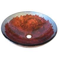 Novatto Carpione Glass Vessel Bathroom Sink