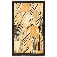 eCarpetGallery Black/Blue Wool Hand-knotted Rug (3'1 x 5'1)