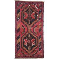 eCarpetGallery Kazak Red Wool Hand-knotted Rug (3'3 x 6'6)