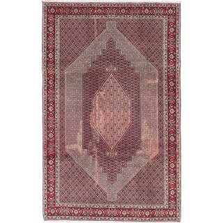 ecarpetgallery Hand-knotted Senneh Blue, Red Wool Rug (6'7 x 10'4)