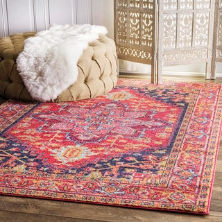 nuLOOM Persian Medallion Pink Rug (3' x 5')