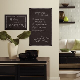 Roommates Black Vinyl Decorative Chalkboard Peel-and-Stick Giant Wall Decals