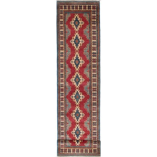 ecarpetgallery Hand-knotted Finest Gazni Red Wool Rug (2'9 x 11'2)