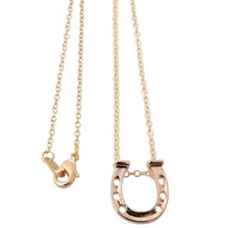 Yellow Gold- or Silver-dipped Horseshoe Necklace