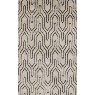 ecarpetgallery Hand-knotted Eternity Grey Wool Rug (4'11 x 8'1)