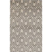 ecarpetgallery Hand-knotted Eternity Grey Wool Rug (4'11 x 8'1) - 4'11 x 8'1