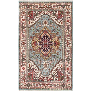ecarpetgallery Hand-knotted Serapi Heritage Blue Wool Rug (4'10 x 8'0)
