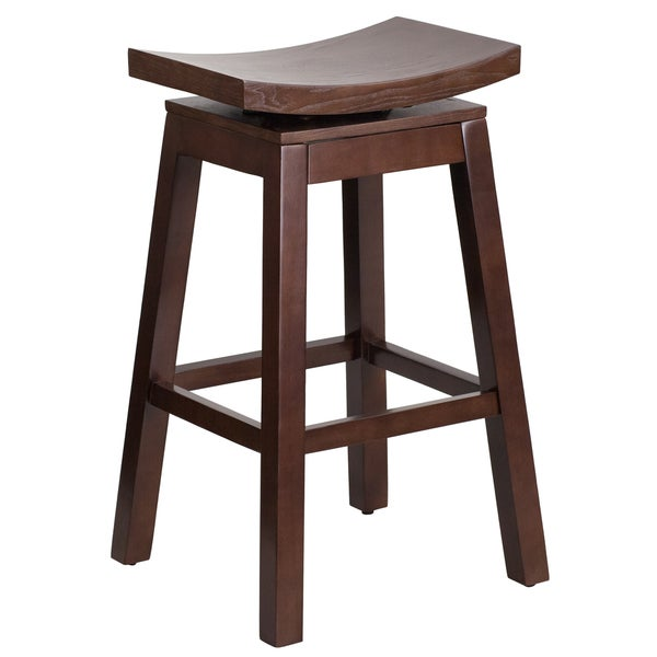 30 inch High Saddle Seat Wood Barstool with Auto Swivel  : 30 inches Saddle Seat Barstool 74238c6a ef34 4685 9c4d 581d3f33a35d600 from www.overstock.com size 600 x 600 jpeg 24kB