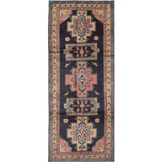 ecarpetgallery Hand-Knotted Hand-Knotted Ardabil Blue Wool Rug (4'4 x 10'10)