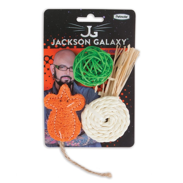Shop Jackson Galaxy Natural Play Time 3 Pack Of Cat Toys