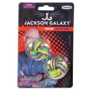 Jackson Galaxy Puma Paw Multicolor Nylon Catnip Ball Cat Toy