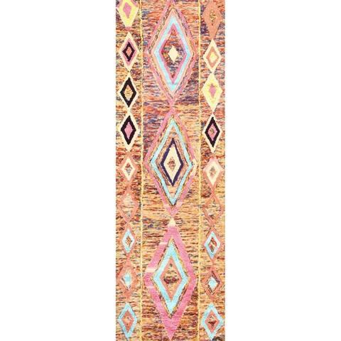 nuLOOM Multi Hand Tufted Wool Moroccan Area Rug