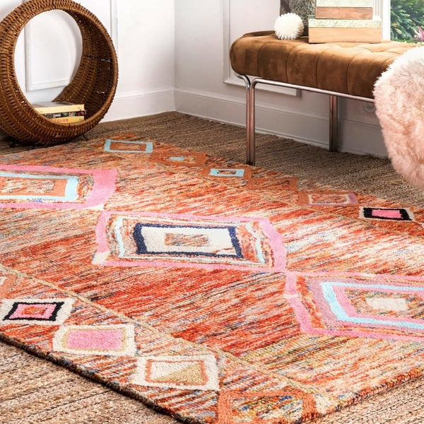 nuLOOM Hand-tufted Wool Boho Moroccan Area Rug. Opens flyout.