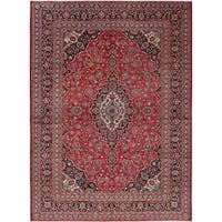 ecarpetgallery Hand-knotted Kashan Red Wool Rug (8'2 x 11'2)