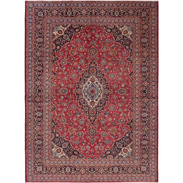 Shop Ecarpetgallery Hand Knotted Persian Kashan Red Wool: Shop Ecarpetgallery Hand-knotted Kashan Red Wool Rug (8'2