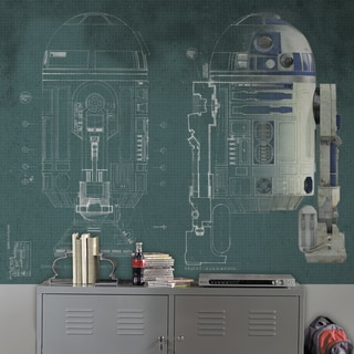 Roommates Star Wars R2-D2 6' x 7.5' Ultra-strippable Prepasted Mural