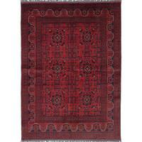 ecarpetgallery Hand-knotted Finest Khal Mohammadi Red Wool Rug (5'5 x 7'8)