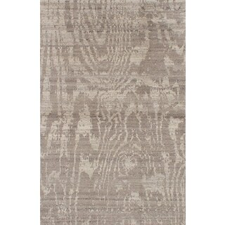 ecarpetgallery Hand-knotted Eternity Green Wool Rug (5'0 x 7'9)